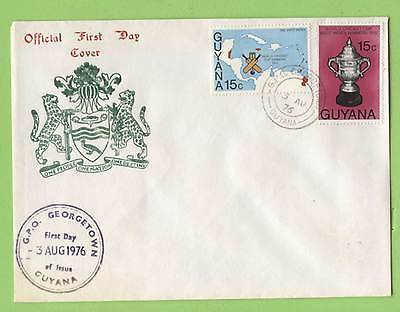 Guyana 1976 West Indies Victory in World Cricket Cup First Day Cover