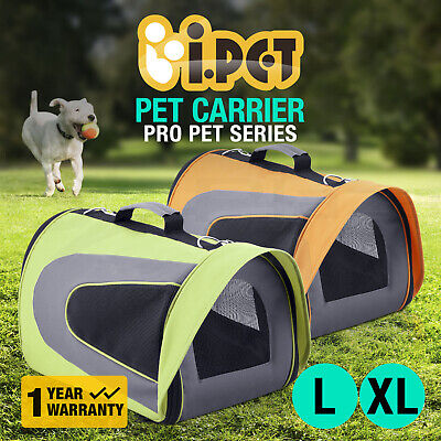 i.Pet Pet Carrier Dog Cat Soft Crate Cage Portable Kennel Foldable Travel L XL