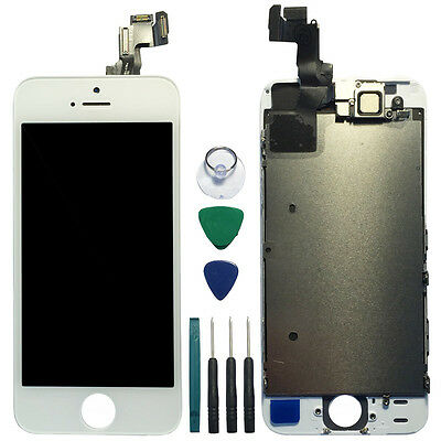White Touch Glass Digitizer LCD Display Replacement Full Assembly for iPhone 5s