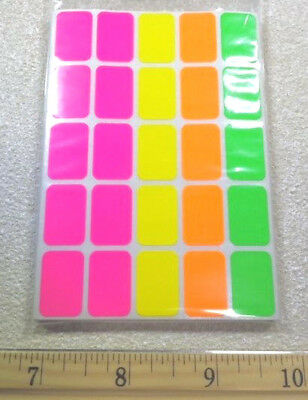 500 Removable Very Popular Neon Adhesive Retail Store Price Labels Tags Stickers