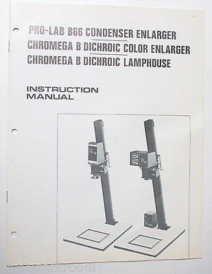 Omega Pro Lab B66 Chromeg Instruction Owners Set-Up Manual Guide Book - USED B18
