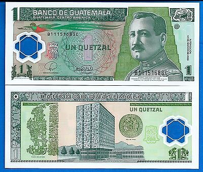 Guatemala P-115 One Quetzal Year 12.2008 Uncirculated FREE SHIPPING
