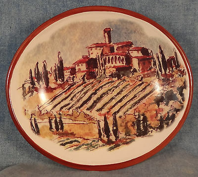 Williams Sonoma Tuscan Landscape Dipping Bowl 5 1/2""