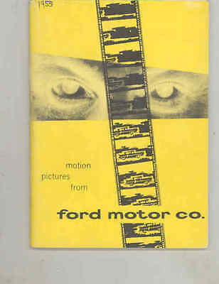 1953 Ford 50th Anniversary Educational Movie Brochure X100 Concept Rouge wu3431