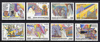 VATICAN Sc#C75-82 1986 Pope John Paul II Journeys MNH