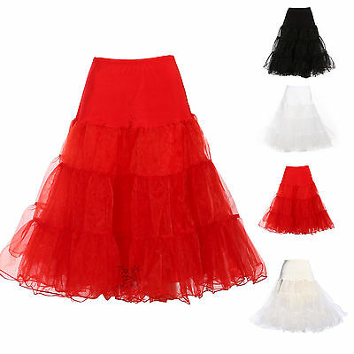 Ladies Girl Retro Tulle Tutu Dancing Skirt Bridal Prom Slip Petticoat Pettiskirt