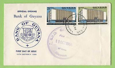 Guyana 1966 Opening of Bank of Guyana First Day Cover
