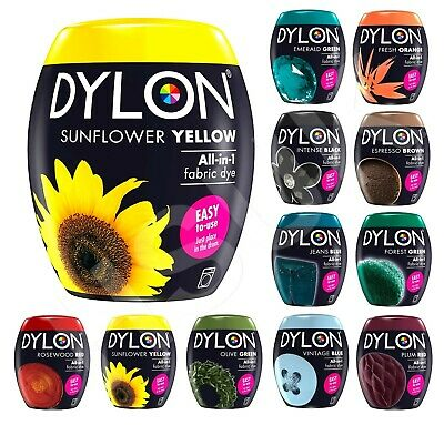Dylon 200G Fabric Clothes Washing Machine Wash N Dye Assorted Colours Box