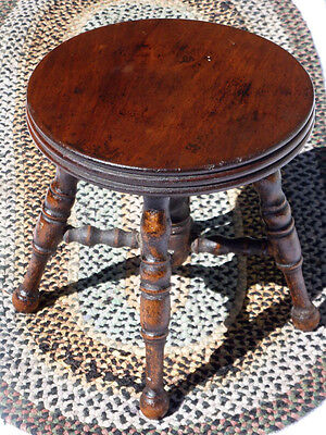 Victorian wooden miniature carved piano stool c. 1880-1920