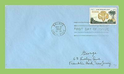 Canal Zone 1962 Scouts Issue First Day Cover (blue)