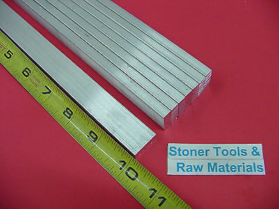 "8 Pieces 1/4"" X 3/4"" ALUMINUM 6061 FLAT BAR 10"" long Solid T6 .25 Mill Stock"