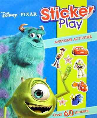 Disney Pixar Sticker Play Book - Ages 3 years + (Toy Story, Monsters Inc, Cars)