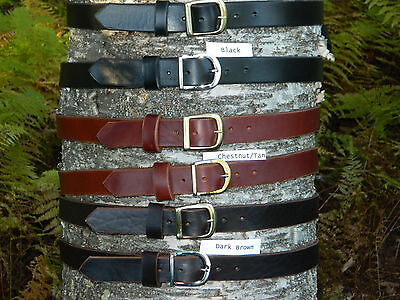 "Handmade Heavy Duty Genuine Solid Leather Belt 1 1/4"" Inch wide Mens/Womens/Kids"