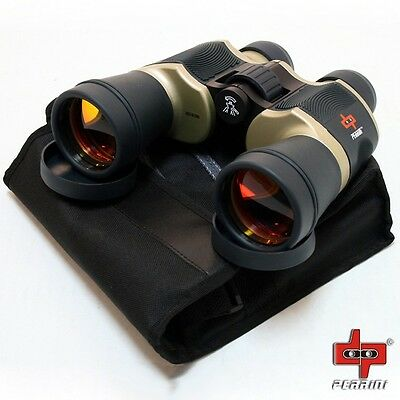 Day/Night 20x60 High Quality Outdoor Bronze Binoculars w/Pouch by Perrini 1224-