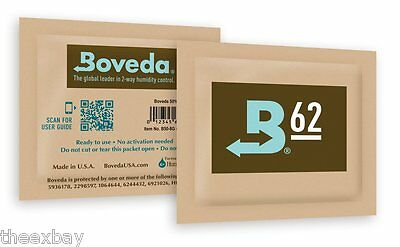 (12) Packets Boveda 62% 2-Way Humidifier Pack By Humidipak Large 60g Size Pack