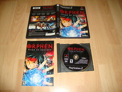 ORPHEN SCION OF SORCERY BY ACTIVISION FOR SONY PLAY STATION 2 USED COMPLETE
