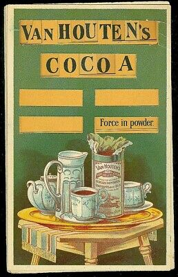 6 Part VanHouten's Cocoa Puzzle Advertising Trade Card