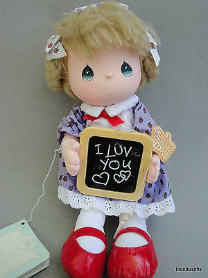 Precious Moments Soft Doll I Luv You Applause 1987 Hang Tags Strawberry Dress