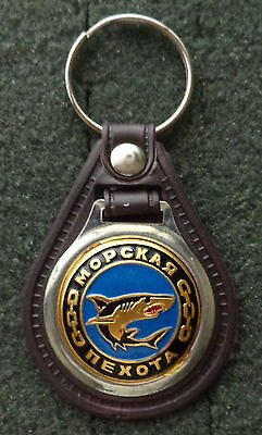 RUSSIAN DOG TAG PENDANT MEDAL  faux  leather keychain  Sniper black   beret