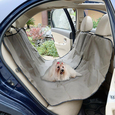 Oxford Heavy Duty Waterproof Pet Dog Car Hammock Back Seat Cover Mat Coffee