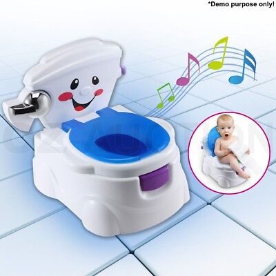 2 in 1 Smiley Face Baby Toddler Potty Seat Kids Toilet Training Chair Trainer