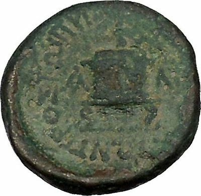 MOPSOS in CILICIA 2-1stCenBC Zeus Lit Altar Authentic Ancient Greek Coin i41643