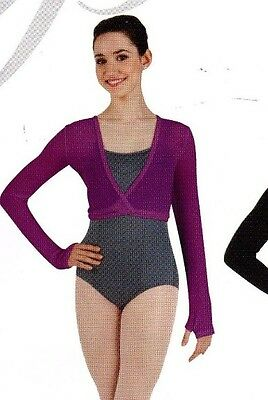 NWT Body Wrappers P955 Classic wrap sweater Berry Ladies sizes Ballet