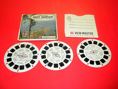 GREAT SMOKY MOUNTAINS NATIONAL PARK 3 reels Viewmaster PACKET (A889)