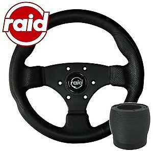 raid Sportlenkrad mit Nabe - 320 mm - BLACK EDITION - VW Polo 86C/6N + Scirocco