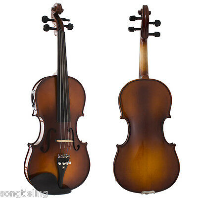 professional 4 strings electric & acoustic violin 4/4 #7640