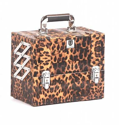 Urbanity makeup cosmetic beauty storage organiser organizer box case bag leopard