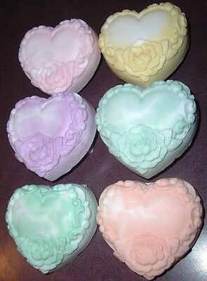 4.5oz Decorative Heart Shaped with Rose Bath Bar Gift Soap