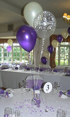 Wedding Balloons - 10 Table Decorations - Many Designs - Many Colours