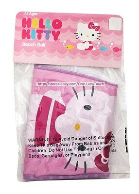 HELLO KITTY By Sanrio BEACH BALL Inflatable SWIMSUIT+PINK+PURPLE Decorative 4/5