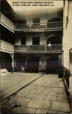 NEW ORLEANS LA Court Yard & Prison Rooms Cabildo Old REAL PHOTO Postcard