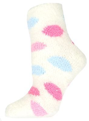Girls Soft & Cosy Spot Feather Touch Socks Size 4 - 5.5