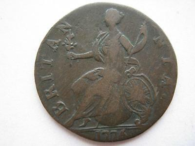 1776 George III Halfpenny contemporary evasion Colonial