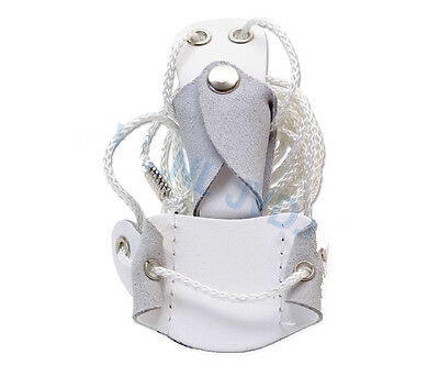 White Gompy Archery Recurve Bow Stringer PU Leather String Bows up to 45lbs Draw