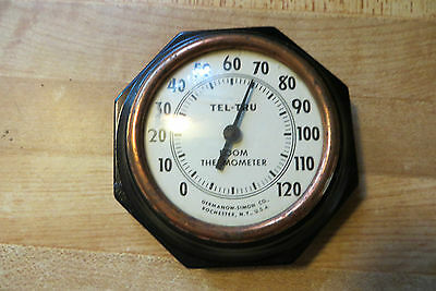 very old Antique wall mount advertising thermometer,Germanow-Simon Co,Rochester