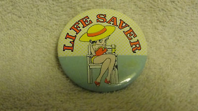 Very Old Life Saver Betty Boop,movie Cartoon Button Pin