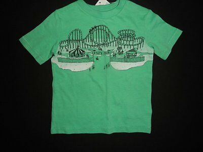 NWT Baby Gap 12-18 State Fair Rides Graphic T-shirt Short Sleeve Green Top New