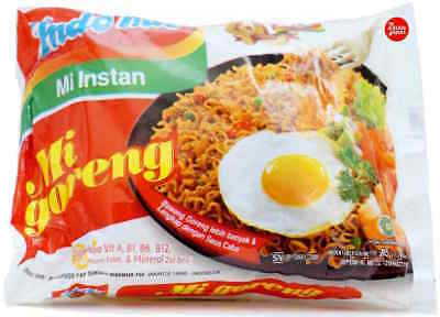 Indomie Mi Goreng Original Fried Noodles 85g (Pack of 40) Mi Instan Bulk Buy