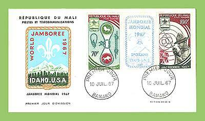 Mali 1967 Scouts set on First Day Cover