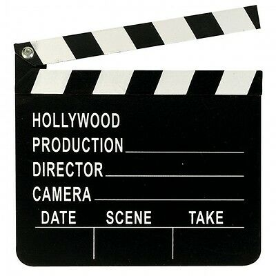 Wooden Directors Hollywood Film Movies Party Decoration Clapper Board U09 059