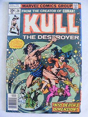 Kull The Destroyer #26 Cents Variant Conan Bronze Age Marvel