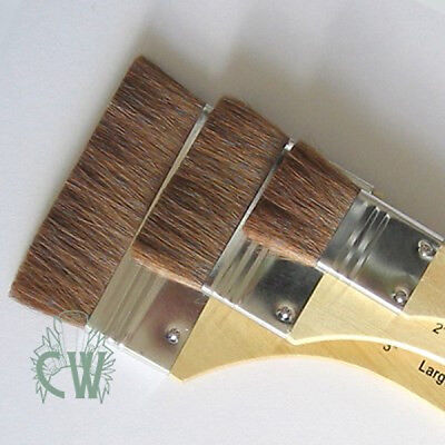 Set of 3 Royal Soft Large Camel Hair Brushes. WaterColour, Gilding Artists