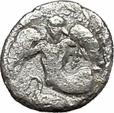 Kamarina in Sicily 461BC Silver Ancient Greek Coin Athena Nike Cult   i41460
