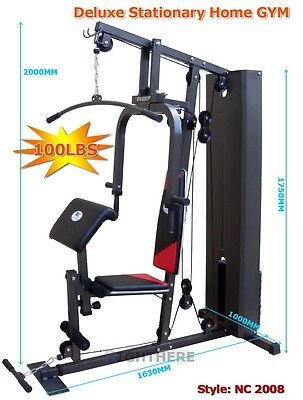 Multi Function Home GYM Station Bench Weight Fitness Weights LAT Pulldown