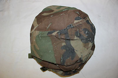 Original US MIlitary Issue US Army Kevlar Combat Helmet Cover Woodland Large