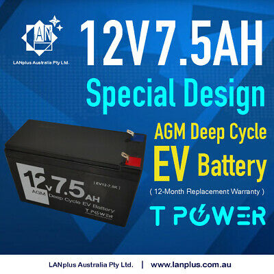 12v 7.5ah AGM Rechargeable Sealed Lead Acid Battery > 7.0ah 7ah 4 Alarm Security